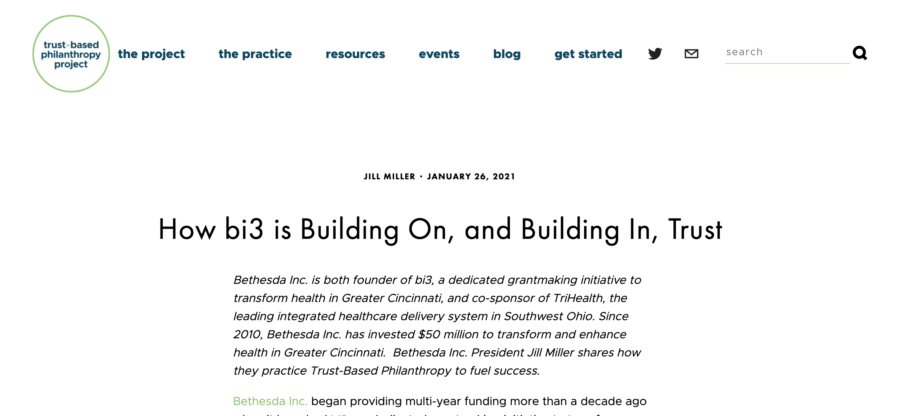 bi3 featured by Trust-Based Philanthropy